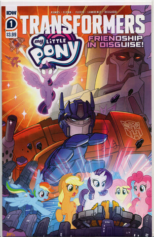 TRANSFORMERS/MY LITTLE PONY: FRIENDSHIP IN DISGUISE #1 Comic Book ~ IDW MLP