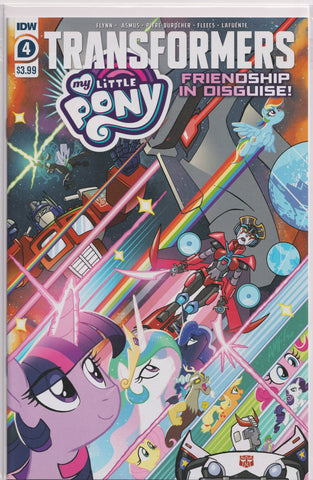 TRANSFORMERS/MY LITTLE PONY: FRIENDSHIP IN DISGUISE #4 Comic Book ~ IDW MLP