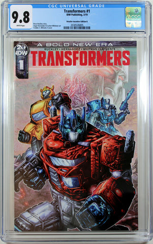 TRANSFORMERS #1 GRADED (RETAILER INCENTIVE EDITION B) COMIC BOOK ~ CGC 9.8 NM/M