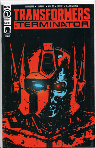 TRANSFORMERS vs. TERMINATOR #1 (COVER B VARIANT) COMIC BOOK ~ IDW