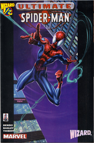 ULTIMATE SPIDER-MAN #1/2 COMIC BOOK ~ Mark Bagley Art ~ Marvel Comics