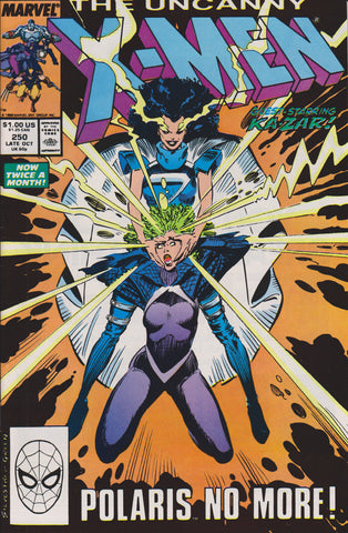UNCANNY X-MEN #250 (1ST PRINT) COMIC BOOK ~ Marc Silvestri Cover ~ Marvel Comics