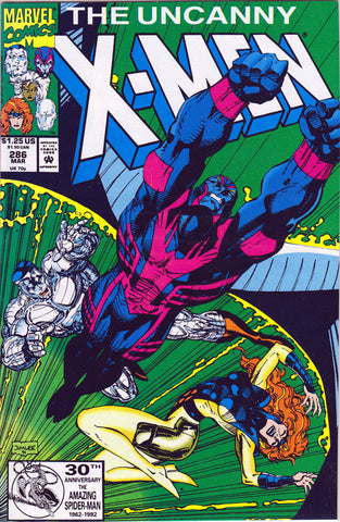 UNCANNY X-MEN #286 (1ST PRINT) COMIC BOOK ~ Jim Lee Cover ~ Marvel Comics