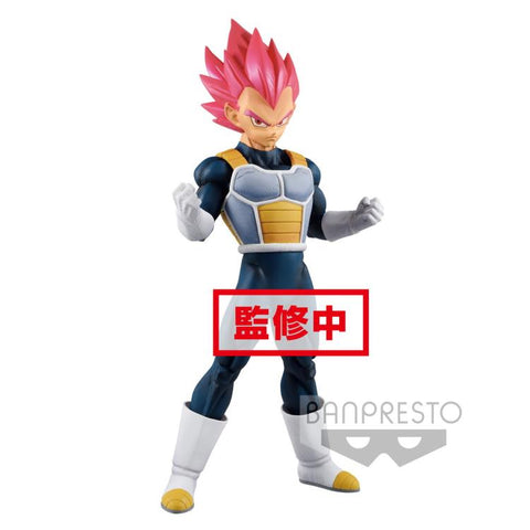 "Dragonball Super Movie ~ 9"" SUPER SAIYAN GOD VEGETA CHOKOKU BUYUDEN STATUE ~ Bandai/Banpresto"