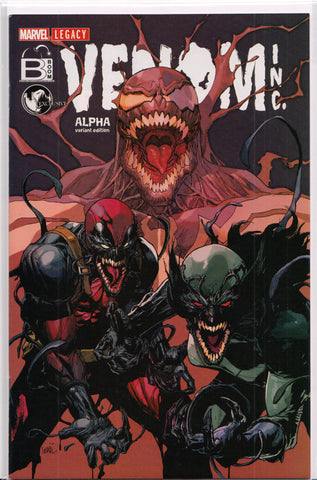 VENOM INC. ALPHA #1 (EXCLUSIVE VARIANT COVER) COMIC BOOK ~ Marvel Comics