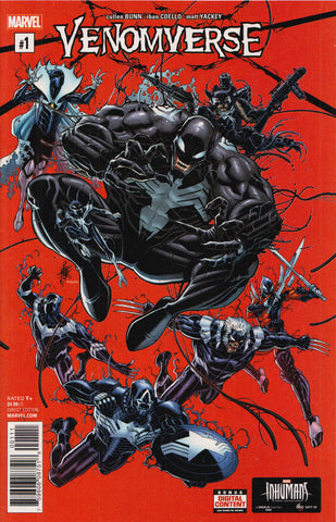 VENOMVERSE #1 (NICK BRADSHAW VARIANT) COMIC BOOK ~ Marvel Comics