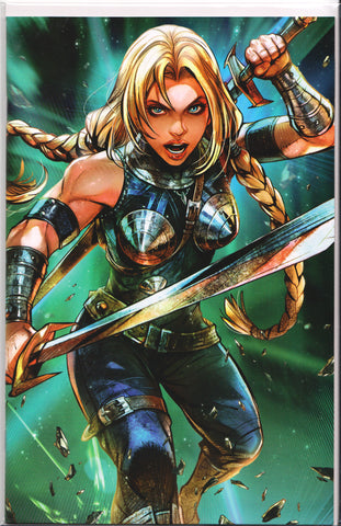 WAR OF THE REALMS #4 (BATTLE LINES VARIANT) COMIC BOOK ~ Marvel Comics