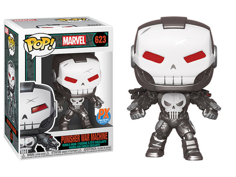 Funko POP! Marvel ~ PUNISHER WAR MACHINE PREVIEWS (PX) EXCLUSIVE FIGURE w/FREE POP PROTECTOR