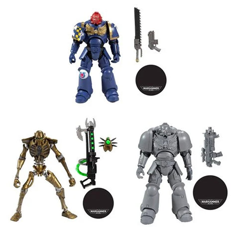 Warhammer 40000 ~ 7-INCH SERIES 1 SET ~ NECRON, SPACE MARINE & CHASE SPACE MARINE