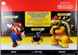 World of Nintendo ~ BOWSER'S LAVA BATTLE SET ~ Mario, Bob-omb & Bowser - Jakks