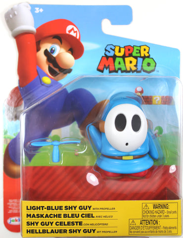 World of Nintendo ~ LIGHT-BLUE SHY GUY (WAVE 19) ACTION FIGURE ~ Super Mario Bros.