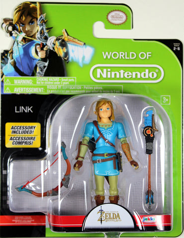 World of Nintendo ~ LINK (WAVE 11) ACTION FIGURE ~ Zelda: Breath of the Wild