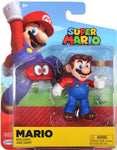 World of Nintendo ~ MARIO w/CAPPY (WAVE 15) ACTION FIGURE ~ Super Mario Bros.