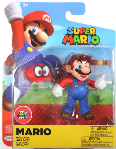 World of Nintendo ~ MARIO w/CAPPY (WAVE 19) ACTION FIGURE ~ Super Mario Bros.