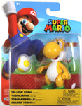 World of Nintendo ~ YELLOW YOSHI (WAVE 19) ACTION FIGURE ~ Super Mario Bros.