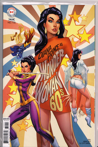 WONDER WOMAN #750 (J. SCOTT CAMPBELL VARIANT COVER) ~ DC Comics
