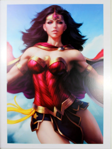 "WONDER WOMAN #65 ART PRINT by Stanley ""Artgerm"" Lau ~ 12"" x 16"" ~ Great Condition"