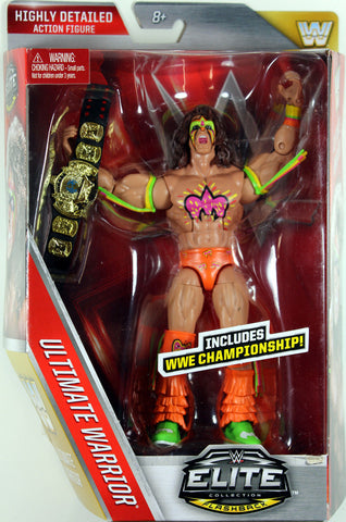WWE ~ Elite Flashback ~ ULTIMATE WARRIOR ACTION FIGURE ~ Lost Legends ~ Mattel