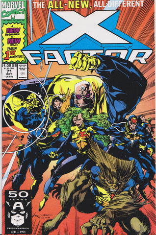 X-FACTOR #71 (1ST PRINT) COMIC BOOK ~ Marvel Comics