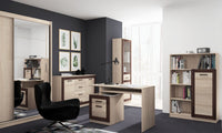 Boss Desk in Light Oak and Chocoloate Oak Colour