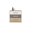 Aygo Chest Of Drawer in Sand Beech/White/Cocrete