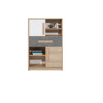 Aygo Cupboard in Sand Beech/White/Conrete