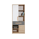 Aygo Bookstand on Sand Beech/White/Cocrete