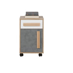 Aygo Cupboard in Sand Beech/White/Concrete