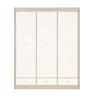 Axel 3 Door Wardrobe in Thuja and Jasmine Gloss