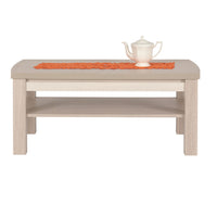 Axel Coffee Table in Thuja and Jasmine Gloss