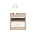 Axel Bedside Table in Thuja and Jasmine Gloss