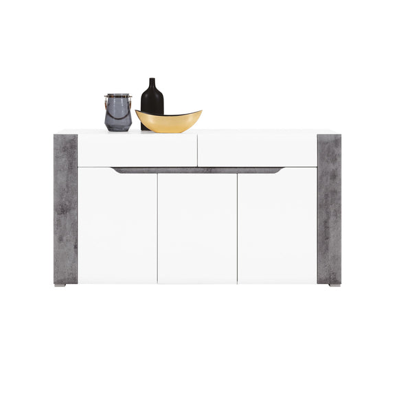 Brando Sideboard in White and Concrete