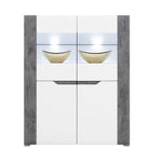 Brando Display Unit in White and Concrete