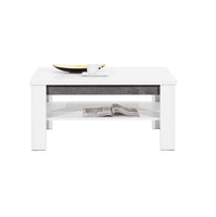 Brando Coffee Table in White and Concrete