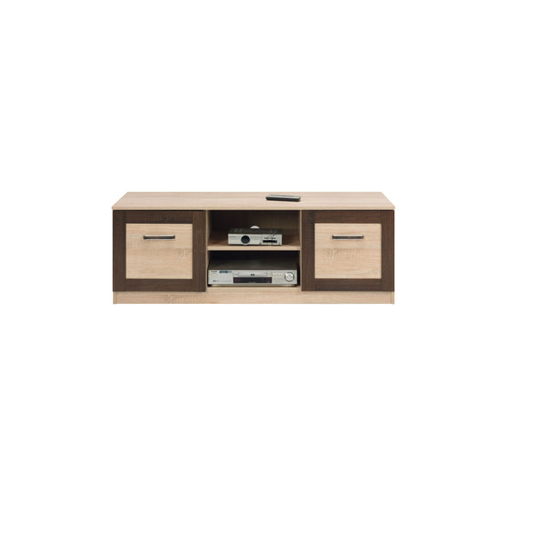 Boss TV Unit in Light Oak and Chocolate Oak Colour