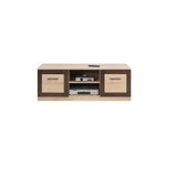Boss Wider TV Unit in Light Oak and Chocolate Oak Colour