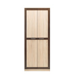 Boss 2 Doors Wardrobe in Light Oak and Chocolate Oak Colour