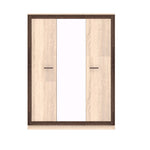 Boss 3 Doors Wardrobe with Mirror in Light Oak and Chocolate Oak Colour