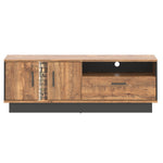 Dorian April Oak And Black TV Unit With LED Lights