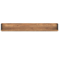 Dorian Wall Mounted Shelf April Oak And Black Colour