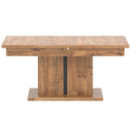 Dorian Extendable Coffee Table in April Oak And Black Colour