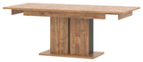 Dorian Extendable Dinning Table in April Oak And Black Colour