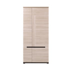 Denis 2 Door Wardrobe in Elm Matt & Black Colour
