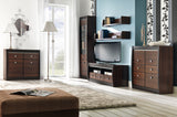 Forrest TV Unit in Dark Walnut and Milano Oak Colour