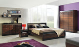 Forrest Dark Walnut and Milano Oak European King Size Bed Frame