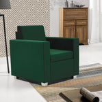 Epic fabric armchair in green colour