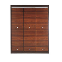 Forrest 3 Door Wardrobe in Dark Walnut and Milano Oak Colour