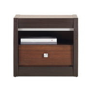 Forrest Bedside Table in Dark Walnut and Milano Oak Colour