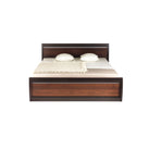 Forrest Dark Walnut and Milano Oak King Size Bed Frame