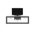 Gray TV Unit in White Matt and Grey Colour